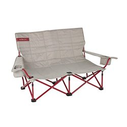 Kelty Low Loveseat Camp Chair – Tundra/Chili Pepper