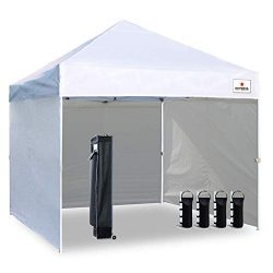 Keymaya 10'x10′ Ez Pop Up Canopy Tent Commercial Instant Shelter with 4 Removable si ...