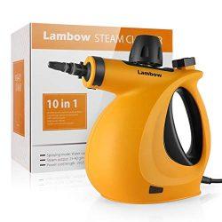 Handheld Pressurized Steam Cleaner with 9-Piece Accessory Set – Multi-Purpose and Multi-Su ...