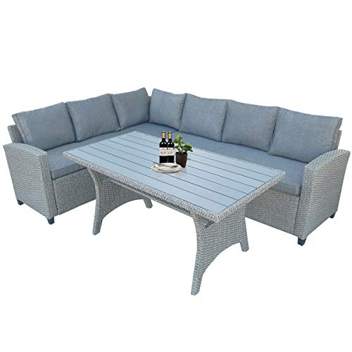 Lz Leisure Zone Patio Dining Table Set Outdoor Furniture