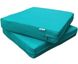 QQbed 2 Pack Outdoor Patio Deep Seat Memory Foam (Seat and Back) Cushion Set with Waterproof Int ...