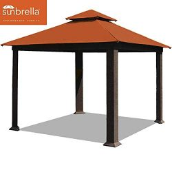 EliteShade 12×12 feet Sunbrella Titan Patio Outdoor Garden Backyard Gazebo (Sunbrella Rust)