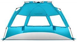 Alvantor Beach Tent Super Bluecoast Beach Umbrella Outdoor Sun Shelter Cabana Automatic Pop Up U ...