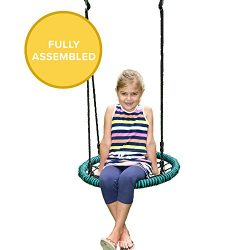 Play Platoon Spider Web Tree Swing – 24 Inch Diameter, 400 lb Weight Capacity, Fully Assem ...