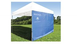 ezShade 10'x10′ Straight Leg Canopy Sidewall -Blocks 99% UVA/UVB Keeps You Cooler, D ...