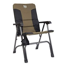 Timber Ridge Camping Folding Chair High Back Portable with Carry Bag Easy Set up Padded for Outd ...