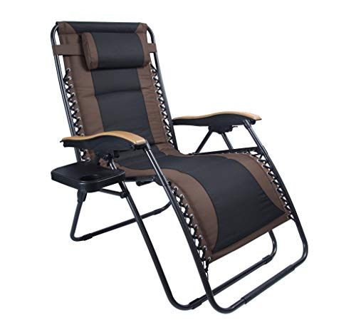 Luckyberry Deluxe Oversized Padded Zero Gravity Chair Xl