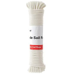 diig Flag Pole Halyard Rope, Outdoor 50 Feet Diamond Solid Straps Braid Polyester Line – 1 ...