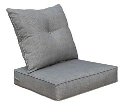 Bossima Cushions for Patio Furniture, Outdoor Water Repellent Fabric, Deep Seat Pillow and High  ...