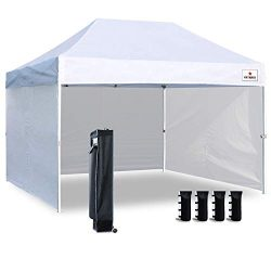Keymaya 10'x15′ Ez Pop Up Canopy Tent Commercial Instant Shelter with 4 Removable si ...