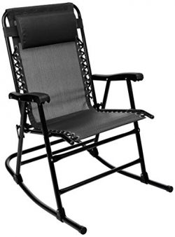 AmazonBasics Foldable Rocking Chair – Black