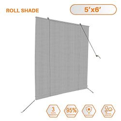 Sunshades Depot Exterior Roller Shade for Deck Porch Pergola Balcony Backyard Patio or Other Out ...