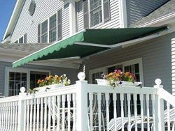 MCombo 13×8 10×8 12×10 FT Manual Retractable Patio Window Awning Commercial Grade ...