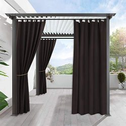 RYB HOME Long Outdoor Curtains – Home Décor Outside Patio Stain Resist Shade for Lawn & ...