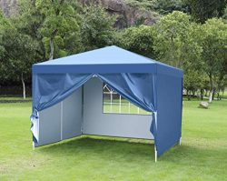 CHARAVECTOR 10X10 ft Heavy Duty EZ Pop Up Tent Gazebo Canopy Screenhouse Pavilion Commercial Out ...