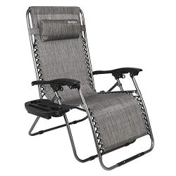 Bonnlo Oversized Zero Gravity Chair, Outdoor Patio Lounge Chair, Adjustable Folding Office Recli ...