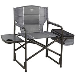 Timber Ridge Laurel Director's Chair with Cooler Bag & Side Table, Grey