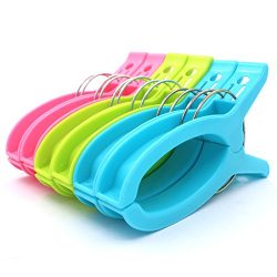 Z Zicome Set of 6 Super Jumbo Plastic Clips for Keeping Towels Sheets Quilts Clothes from Blowin ...