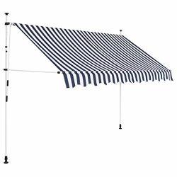 Tidyard Manual Retractable Sun Shade Patio Awning 98.4 Inches for Window Terrace Balcony Garden  ...