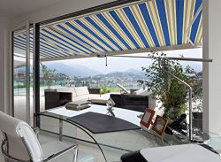 ADVANING 12'x10′ Manual Patio Retractable Awning | Luxury Series | Premium Quality,  ...