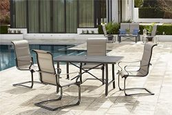Cosco Outdoor Furniture Set, SmartConnect, 5 Piece, Gray Beige