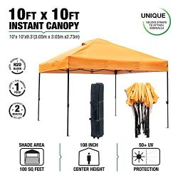 kdgarden 10′ x 10′ Easy Pop Up Canopy Portable Instant Canopy Shelter for Outdoor Pa ...