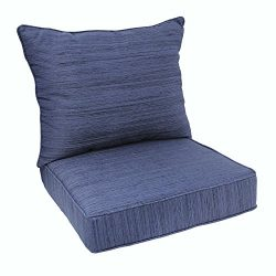 allen + roth Navy Deep Seat Patio Chair Cushion