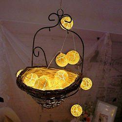 Glumes LED Crack Ball String Lights Fairy Lights |10 Lamp|1.5 m |Hanging Indoor Outdoor Decor ...