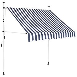 Tidyard Manual Retractable Sun Shade Patio Awning 78.7 Inches for Window Terrace Balcony Garden  ...