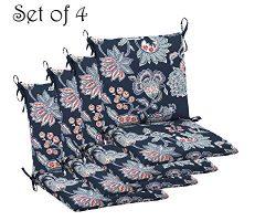 Comfort Classics Inc. Set of 4 Indoor/Outdoor Dining Chair Cushion 20″ x 36″ x 3.5&# ...