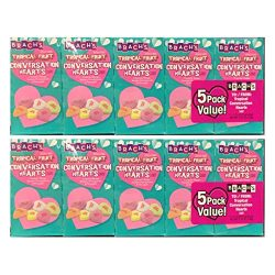 Brach's (1) 10pc Set Conversation Hearts – Tropical Fruit Flavors – Valentine& ...