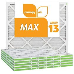 Canopy Air 20x20x1 MERV 13 19 1/2″ x 19 1/2″ x 3/4″, 6-Pack MAX Allergen Prote ...