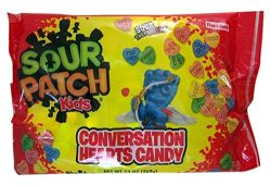 Sour Patch Kids Conversation Hearts Valentine's Day Candy, 13 oz