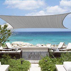Shade&Beyond 12'x16′ Sun Shade Sail Rectangle Canopy Sail Sunshade UV Block for  ...