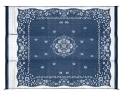 Camco 42851 Oriental Awning Leisure Mat-Blue 9′ X 12′