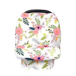 Materity Top CarSeat Cover Canopy Nursing Cover Crib Baby Stroller Cover Canopy Durable (A)