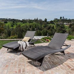 Outdoor Wicker Chaise Lounge Chair by Lakeport Patio Furniture – Rust-Proof Aluminum Frame, Eleg ...
