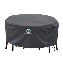 Outdoor Patio Furniture Covers Waterproof UV Resistant Anti-Fading Cover for X-Large Round Table ...