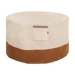 SONGMICS Fire Pit Cover, 600D Oxford Fabric, Round Fire Pit Table Protective Cover for Outdoor P ...