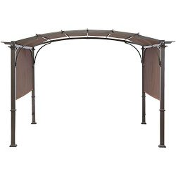 MASTERCANOPY Universal Doubleton Steel Pergola Replacement Cover for Pergola Structures 80&#8221 ...