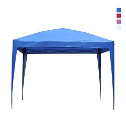 Leisurelife Waterproof 10'x10′ Pop Up Canopy Tent with Side-Outdoor Folding Commerci ...