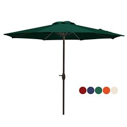 HASLE OUTFITTERS Patio Umbrella 9FT Table Umbrella Outdoor Market Umbrella with Tilt Adjustment  ...