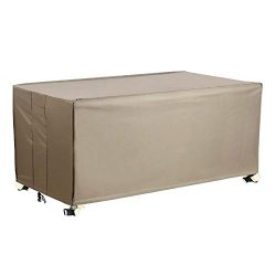 Flexiyard Patio Deck Box Cover, Patio Table Cover with Straps and Handles, 100% Waterproof Heavy ...