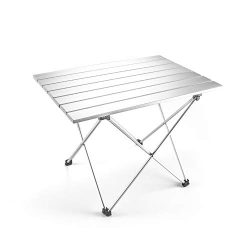 Outry Lightweight Aluminum Folding Table, Portable Camp Table, Outdoor Picnic Camping Backpackin ...
