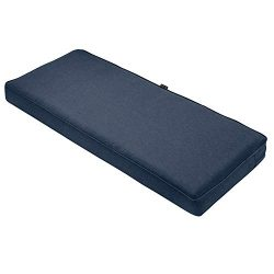 Classic Accessories Montlake Bench Cushion Foam & Slip Cover, Heather Indigo, 48x18x3″ ...