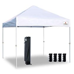 Keymaya Ez Commercial Instant Tent Heavy Duty Pop-up Canopy Shelter Bonus Weight Bag 4-pc Pack ( ...