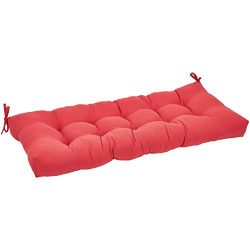 AmazonBasics Bench Patio Cushion- Poly Fiber – Red