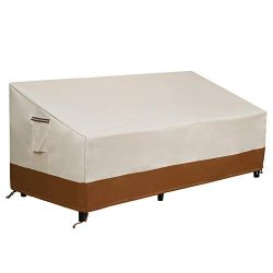 SONGMICS Patio Sofa Cover, 600D 3-Seater Bench Deep Chaise Lounge Protective Cover for Large Out ...