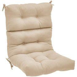 AmazonBasics High Back Chair Patio Cushion- Tan