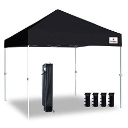 Keymaya 10'x10′ Ez Commercial Instant Tent Heavy Duty Pop-up Canopy Shelter Bonus We ...